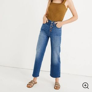 Madewell Slim Wide-Leg Jeans in Olympia Wash